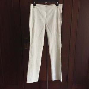 Textured stretch pull on style dress pants NWT